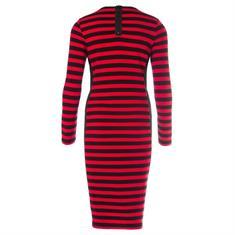 Juffrouw Jansen jurk wow-w18 in het Zwart / Rood