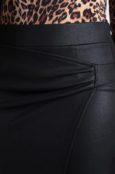 Juffrouw Jansen midi rok annie in het Zwart