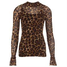 Juffrouw Jansen t-shirts anne-w19 in het Camel