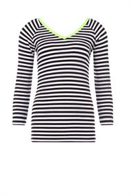 Juffrouw Jansen t-shirts kanel-s20 in het Wit/Zwart
