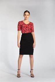 Juffrouw Jansen t-shirts kira-s20 in het Rood