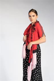 Juffrouw Jansen t-shirts lau-s20 in het Rood