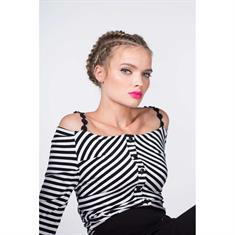 Juffrouw Jansen t-shirts leha-s19 in het Wit/Zwart