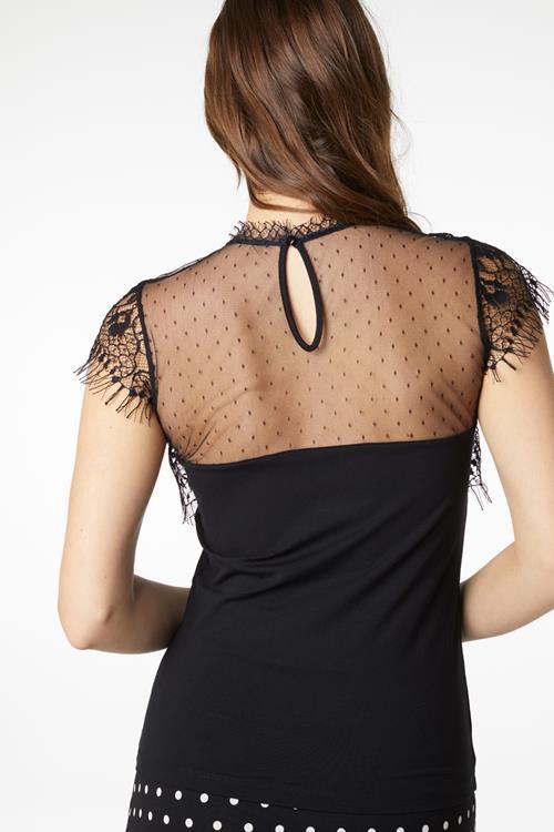 Juffrouw Jansen t-shirts lena in het Zwart