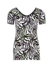 Juffrouw Jansen t-shirts lies-s20 in het Wit/Zwart