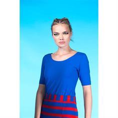 Juffrouw Jansen t-shirts lieve-s19 in het Kobalt