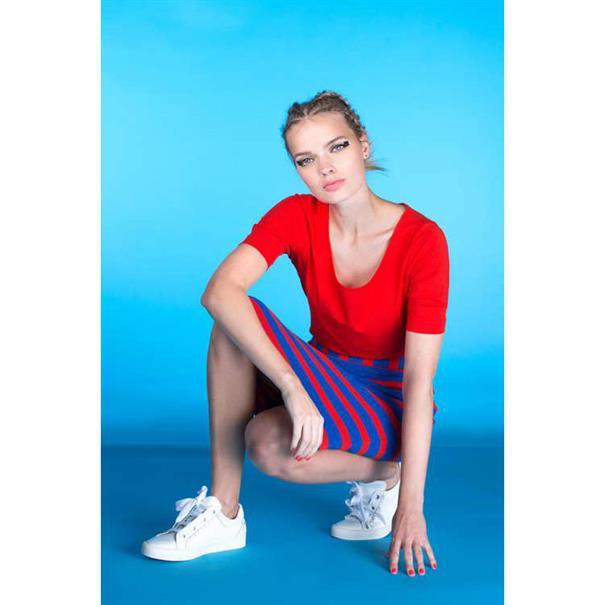 Juffrouw Jansen t-shirts lieve-s19 in het Rood