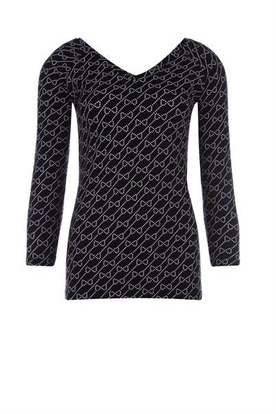 Juffrouw Jansen t-shirts linde-s20 in het Zwart / Wit