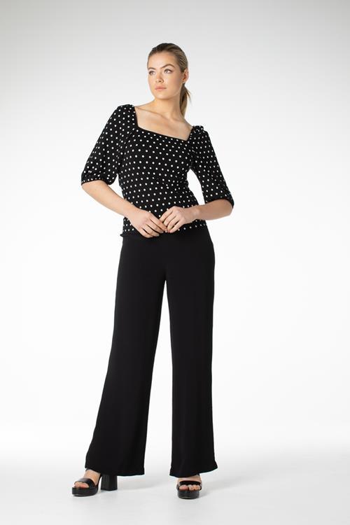 Juffrouw Jansen t-shirts max in het Zwart / Wit