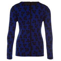 Juffrouw Jansen t-shirts nicol-w19 in het Kobalt
