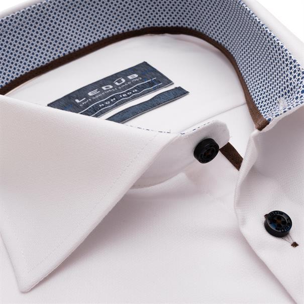Ledub business overhemd 0139139 in het Wit/Blauw