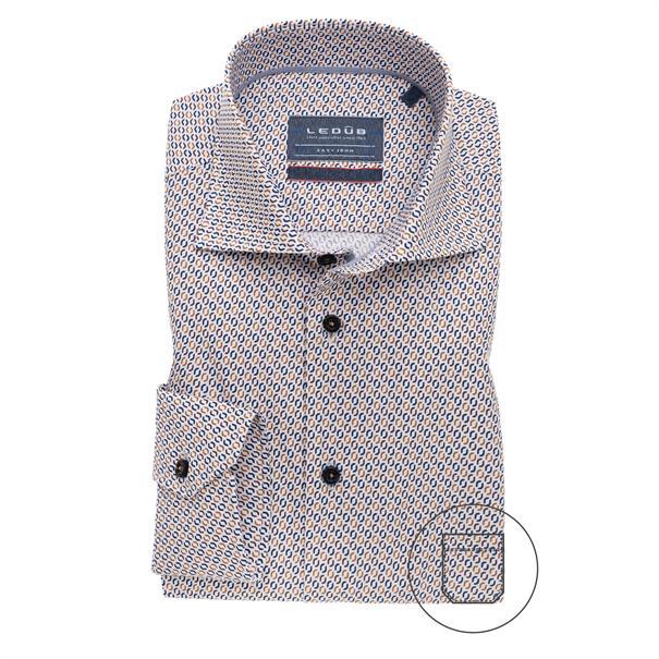 Ledub business overhemd 0139165 in het Bruin