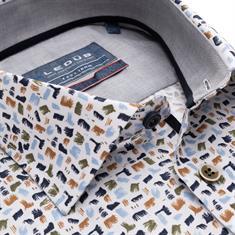 Ledub business overhemd 0139317 in het Groen