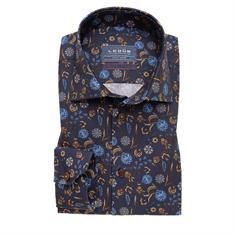 Ledub business overhemd 0139325 in het Donker Blauw