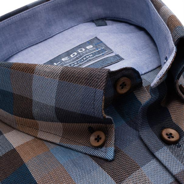 Ledub business overhemd 0139435 in het Donker Blauw