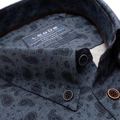 Ledub business overhemd 0139483 in het Donker Blauw