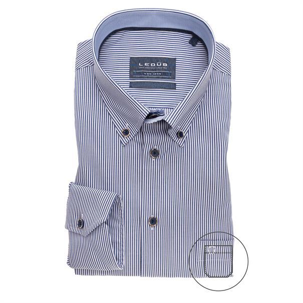Ledub business overhemd 0139595 in het Wit/Blauw