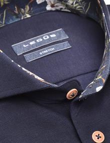 Ledub business overhemd 0139987 in het Donker Blauw