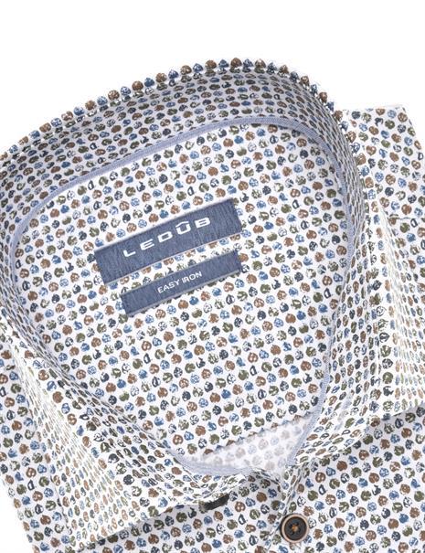 Ledub business overhemd 0140531 in het Bruin