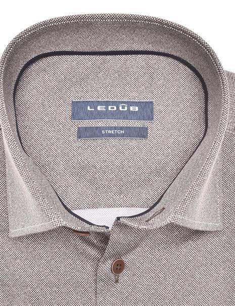 Ledub business overhemd 0140545 in het Donker Bruin
