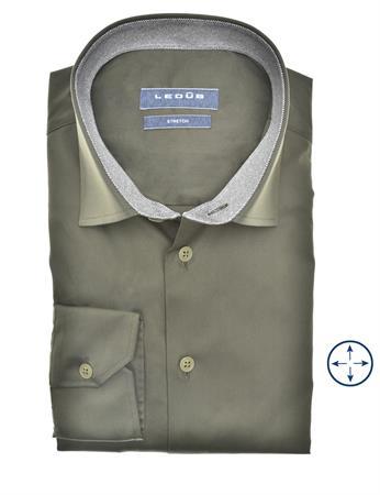Ledub business overhemd 0140549 in het Donker Groen