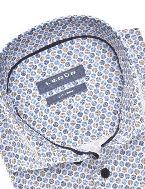 Ledub business overhemd 0140557 in het Donker Blauw