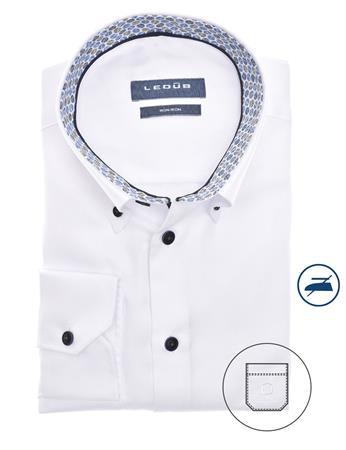 Ledub business overhemd 0140563 in het Wit/Blauw