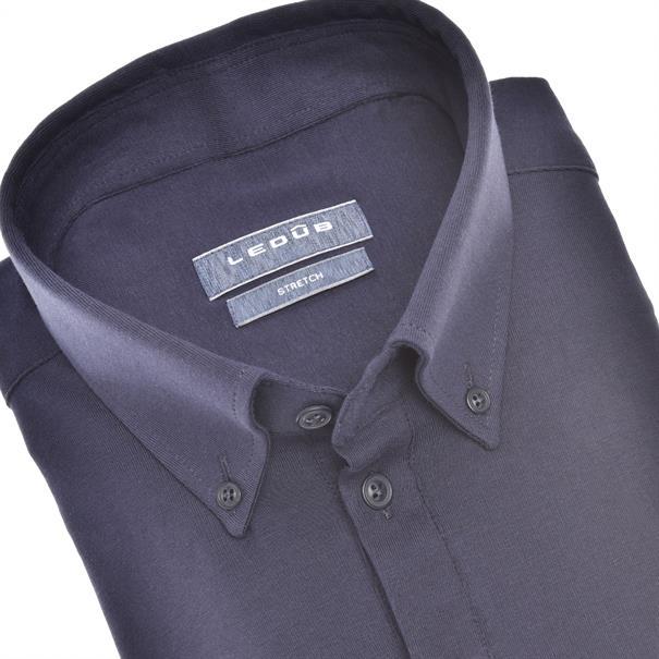 Ledub business overhemd 0140585 in het Donker Blauw