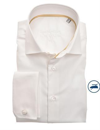 Ledub business overhemd 0323578 in het Wit/Geel
