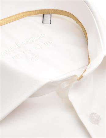 Ledub business overhemd 0343568 in het Wit/Geel