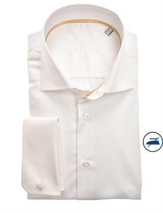 Ledub business overhemd 0343578 in het Wit/Geel