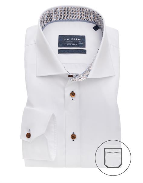 Ledub business overhemd Modern Fit 0139171 in het Wit