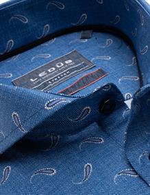 Ledub business overhemd Modern Fit 0139179 in het Blauw