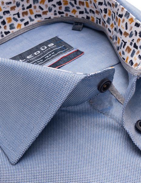 Ledub business overhemd Modern Fit 0139303 in het Blauw