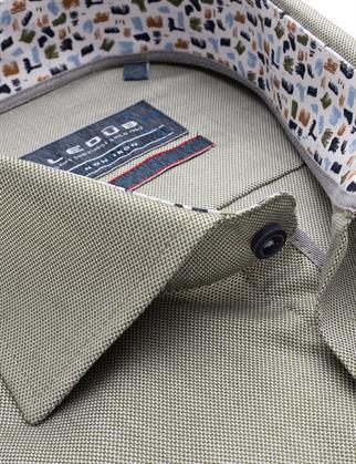 Ledub business overhemd Modern Fit 0139303 in het Groen