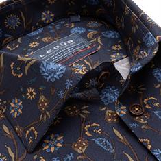 Ledub business overhemd Modern Fit 0139323 in het Donker Blauw