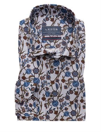 Ledub business overhemd Modern Fit 0139323 in het Licht Grijs