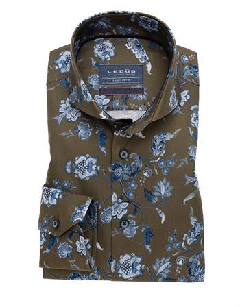 Ledub business overhemd Modern Fit 0139379 in het Licht Groen