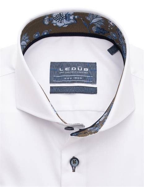 Ledub business overhemd Modern Fit 0139395 in het Wit