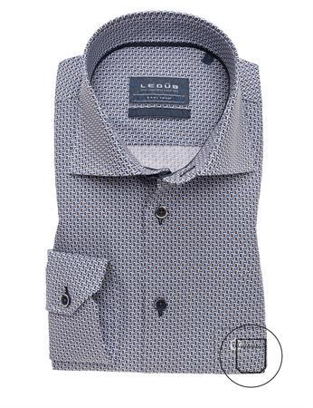 Ledub business overhemd Modern Fit 0139579 in het Bruin
