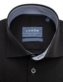 Ledub business overhemd Modern Fit 0139587 in het Zwart / Bruin