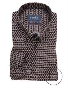 Ledub business overhemd Modern Fit 0139619 in het Donker Blauw