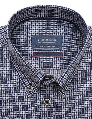 Ledub business overhemd Modern Fit 0139635 in het Donker Blauw