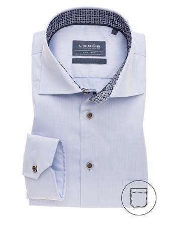 Ledub business overhemd Modern Fit 0139643 in het Licht Blauw