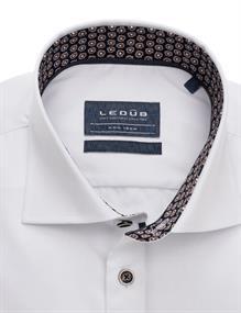 Ledub business overhemd Modern Fit 0139643 in het Spierwit