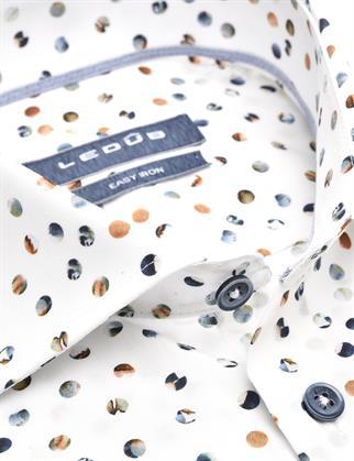 Ledub business overhemd Modern Fit 0139829 in het Beige