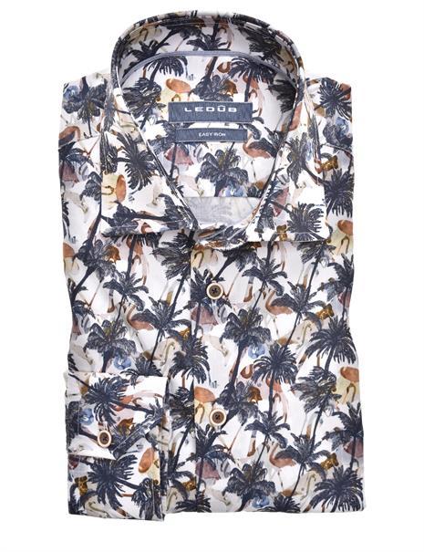 Ledub business overhemd Modern Fit 0139927 in het Licht Blauw