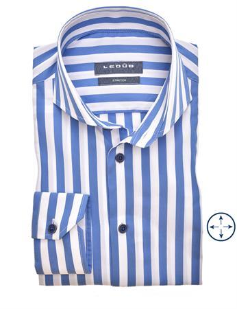 Ledub business overhemd Modern Fit 0140017 in het Blauw