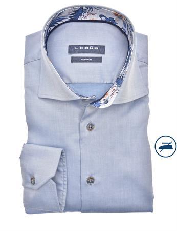 Ledub business overhemd Modern Fit 0140206 in het Blauw
