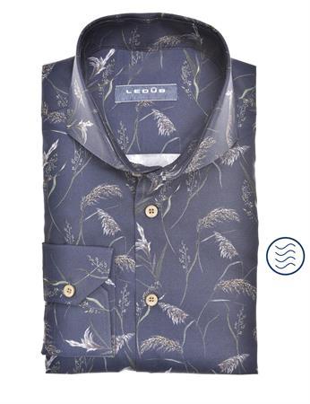 Ledub business overhemd Modern Fit 0140574 in het Donker Blauw